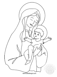 Immagine Maria Con Gesù Da Colorare Tuttodisegnicom