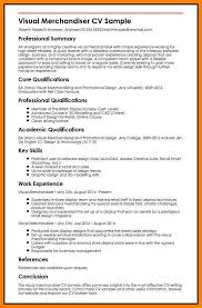 Visual Merchandising Resume Sample Tomburmoorddinerco New Visual Merchandiser Resume
