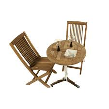 teak bistro table and chairs. Teak Bistro Set With 60cm Diameter Table And Chairs K