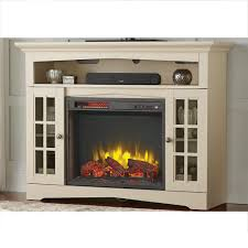 home decorators collection avondale grove 48 in tv stand infrared electric fireplace in aged white