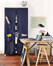 hidden home office desk diy. diy home office organization ideas hidden storage curtain pockets desk