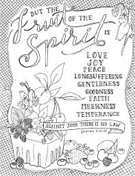 Fruits Of The Spirit Coloring Pages Fruits Of The Spirit Coloring
