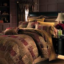 galleria 4 pc king comforter set with reddish brown king comforter set and fringed square