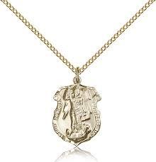 gold st michael archangel medal