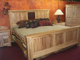 Plank Bedroom Furniture Cheap Rustic Bedroom Furniture Brown Plank Wood Frame Bed Brown