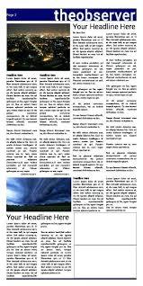 Spoof Newspaper Template Free Tabloid Article Template Listoflinks Co