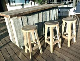 Outdoor Bar Table And Stools Rustic Unique Patio Or Image Of