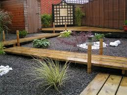 deck gardens. landscape of japanese garden with wooden deck and natural small rock design water . portland gardens