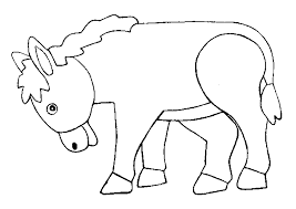 Small Picture Donkey 2 coloring page