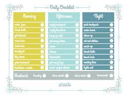 Daily Checklist For Kids Barca Fontanacountryinn Com