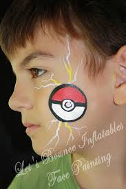 vancouver face painting lets bounce inflatables pokeball boys face painting idea