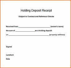 Deposit Receipt Sample 9 Deposit Receipt Template Budget Template Letter
