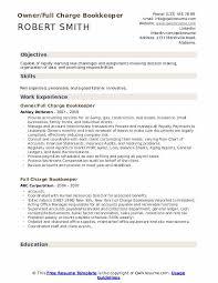 Bookkeeping Resume Full Charge Bookkeeper Resume Samples Qwikresume