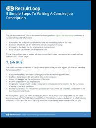 Descriptions Examples Bunch Write Job Description Template Ideas Of