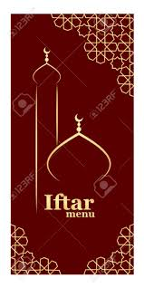 Iftar Menu Design Template For Restaurant Oriental Menu For Iftar With Mosque