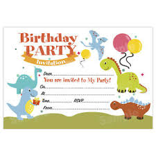 kids birthday party invitations details about dinosaur kids birthday party invitations invites girl boy unisex