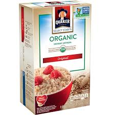 quaker oatmeal quaker select starts organic original instant oatmeal quaker select starts organic original instant