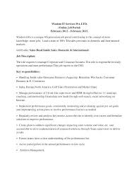 Cover Letter For Inside Sales Sample Resume Questionnaire Examples