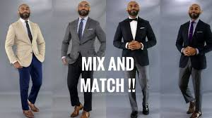 How To Mix And Match <b>Men's Suits</b>/Mix And Match <b>Suits</b> - YouTube