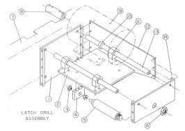 Latch drill assembly diagram