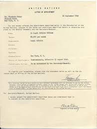 letter of appointment to the un 1946 vlado