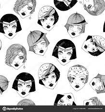 Buben Vzor Bezešvé Dívky Z Roku 1920 žen Stock Vektor Phoneo