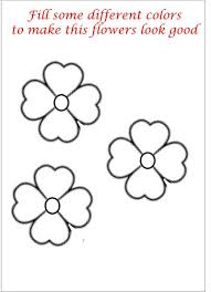 Little Flower Coloring Printable Page For Kids Painting