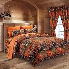 Camo Bedding: Amazon.com & The Woods Orange Camouflage Queen 8pc Premium Luxury Comforter, Sheet,  Pillowcases, and Bed Skirt Set by Regal Comfort Camo Bedding Set For  Hunters Cabin or ... Adamdwight.com