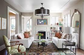 drum chandelier living room