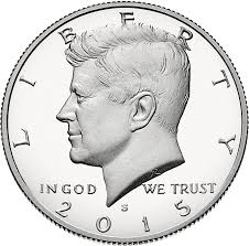 1964 Kennedy Half Dollar Accented Hair Value Chart Half Dollar United States Coin Wikipedia