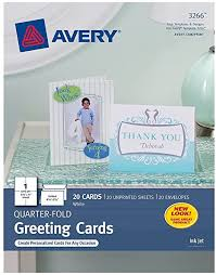 Maybe you would like to learn more about one of these? Amazon Com Avery Quarter Fold Greeting Cards For Inkjet Printers 4 25 X 5 5 Inches White Pack Of 20 3266 Blank Greeting Cards Office Products