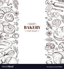 Bakery Retro Background With Hand Drawn Royalty Free Vector
