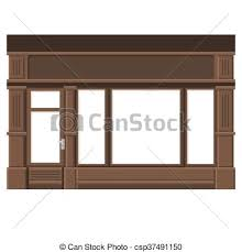 store window clipart. Interesting Window Shopfront With White Blank Windows Wood Store Facade Vector On Window Clipart E