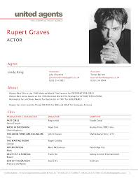Acting Resume Templates Gallery of resume example 100 actor resume templates word 100 24
