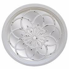 antique white round wall mirror rc