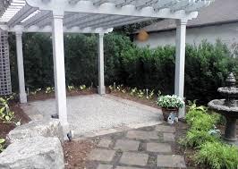Custom pergola, Stone walkway, & Garden