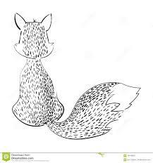 картинка чёрно белая лиса