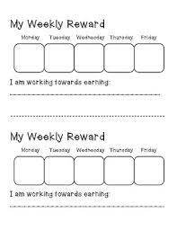 Weekly Reward Chart Printable Weekly Reward Chart Worksheets Teaching Resources Tpt