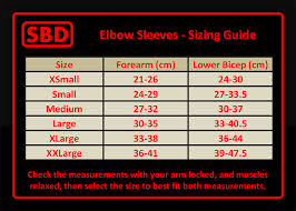 Elbow Sleeve Size Chart Sbd Elbow Sleeves Limited Edition Eclipse