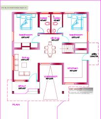three bedroom house kerala style fresh single floor house plan 1000 sq ft