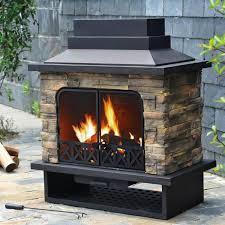 portable outdoor fireplace design