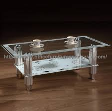 tempered glass coffee table with chrome base ygt 1235ct taman desa kl