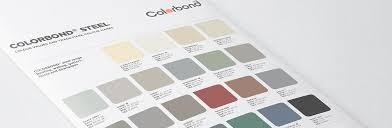 Bluescope Color Chart Colorbond Steel Fielders