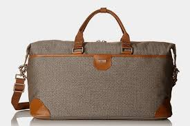 herringbone luxe softside weekend duffel by hartmann