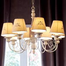 country house robin chandelier with linen shades
