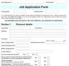 Employee Application Form Word Job Application Form Template Uk Word Format New Employee