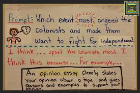 social studies the pensive sloth content writing opinion essay anchor chart american revolution