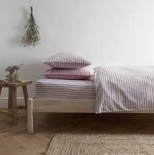 ticking stripe rose pink duvet cover