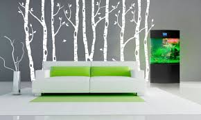 back to mural birch tree wall decal decor on white birch tree wall art with birch tree and birds wall decal every beauty talks mural birch