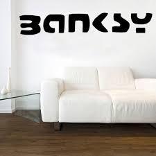 <b>Banksy</b> Logo Decal Vinyl <b>Wall Sticker</b> East Urban <b>Home</b> Size: Extra ...